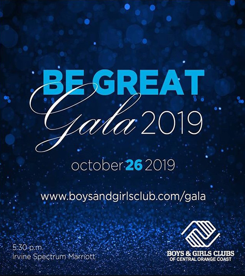 Boys & Girls Club Central Orange County Be Great Gala